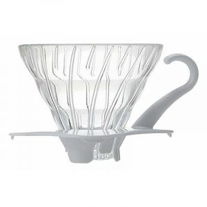HARIO GLASS COFFEE DRIPPER V60 01 WHITE