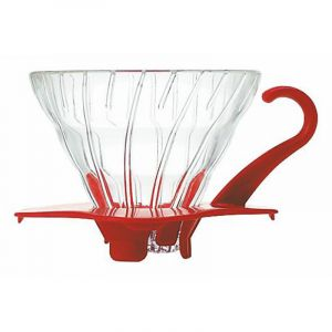 HARIO GLASS COFFEE DRIPPER V60 01 RED