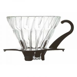 HARIO GLASS COFFEE DRIPPER V60 01 BLACK