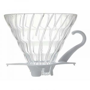 HARIO GLASS COFFEE DRIPPER V60 02 WHITE