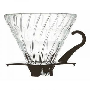 HARIO GLASS COFFEE DRIPPER V60 02 BLACK