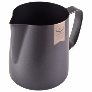 ESPRESSO GEAR TEFLON COATED FOAMING JUG - 0.35L BLACK