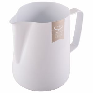 ESPRESSO GEAR TEFLON COATED FOAMING JUG - 0.60L WHITE