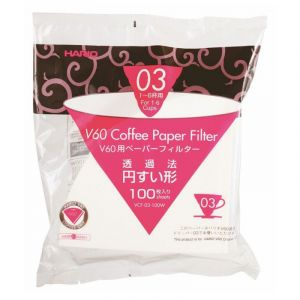 HARIO V60 PAPER FILTER 03 DRIPPER 100 SHEETS - BLEACHED
