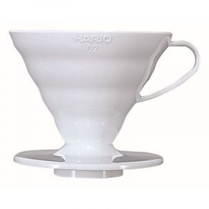 HARIO COFFEE DRIPPER V60 02 WHITE PLASTIC