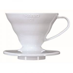 HARIO COFFEE DRIPPER V60 01 WHITE PLASTIC