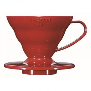 HARIO COFFEE DRIPPER V60 01 RED PLASTIC