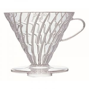 HARIO COFFEE DRIPPER V60 03 CLEAR PLASTIC