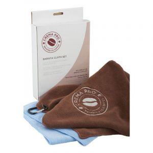 CREMA PRO MICROFIBRE CLOTH & BARISTA TOWEL SET - 2 CLOTH PACK
