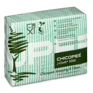 CHICOPEE J-CLOTH 3000 - FOLDED GREEN (PACK OF 50)