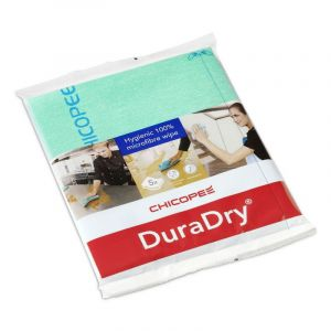 CHICOPEE DURADRY MICROFIBRE CLOTH - GREEN (PACK OF 5)