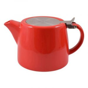ECONOMY STACKABLE TEAPOT - RED