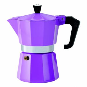 PEZZETTI ITALEXPRESS ALUMINIUM MOKA POT - 3 CUP PURPLE