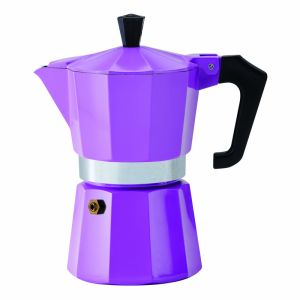 PEZZETTI ITALEXPRESS ALUMINIUM MOKA POT - 6 CUP PURPLE