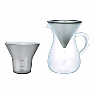KINTO SCS-04-CC-ST COFFEE CARAFE SET 600ML STAINLESS STEEL