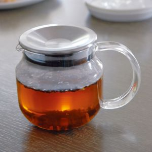 KINTO ONE TOUCH TEAPOT 450ML STAINLESS STEEL LID