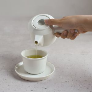 KINTO LT CUP AND SAUCER WHITE