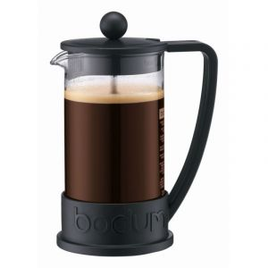 BODUM BRAZIL FRENCH PRESS COFFEE MAKER, 3 CUP, 0.35 L, 12 OZ - BLACK