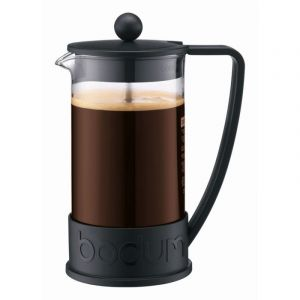 BODUM BRAZIL FRENCH PRESS COFFEE MAKER, 8 CUP, 1.0 L, 34 OZ - BLACK