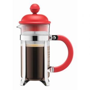 BODUM CAFFETTIERA COFFEE MAKER, 3 CUP, 0.35 L, 12 OZ - RED