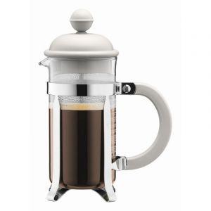 BODUM CAFFETTIERA COFFEE MAKER, 3 CUP, 0.35 L, 12 OZ - OFF WHITE