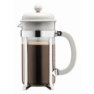 BODUM CAFFETTIERA COFFEE MAKER, 8 CUP, 1.0 L, 34 OZ - OFF WHITE