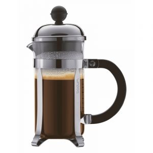 BODUM CHAMBORD COFFEE MAKER 3 CUP 0.35L/12OZ - GLASS, MIRROR FINISH S/S LID