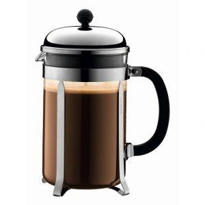 BODUM CHAMBORD COFFEE MAKER 12 CUP 1.5L/51OZ - GLASS, MIRROR FINISH S/S LID