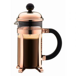 BODUM CHAMBORD COFFEE MAKER 3 CUP 0.35L/12OZ - GLASS, COPPER LID