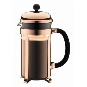 BODUM CHAMBORD COFFEE MAKER 8 CUP 1.0L/34OZ - GLASS, COPPER LID