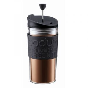 BODUM TRAVEL PRESS SET COFFEE MAKER, 0.35 L, 12 OZ - BLACK