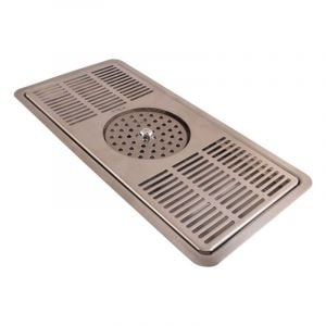 RECESSED CENTRE SPRAY PITCHER RINSER TRAY - 406MM (L) 178MM (W) 22MM (D)