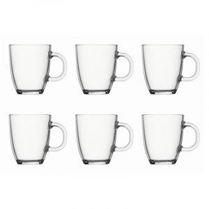 BODUM BISTRO 6PCS COFFEE MUG, 0.35 L, 12OZ - TRANSPARENT