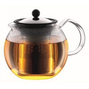 BODUM ASSAM TEA PRESS WITH S/S FILTER, 0.5 L, 17OZ - SHINY
