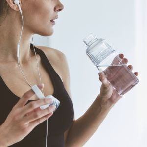 KINTO WORK OUT BOTTLE 480ML CLEAR