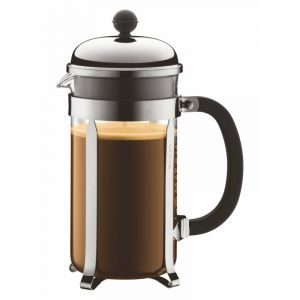 BODUM CHAMBORD COFFEE MAKER 8 CUP 1.0L/34OZ - POLYCARB, MIRROR FINISH S/S LID