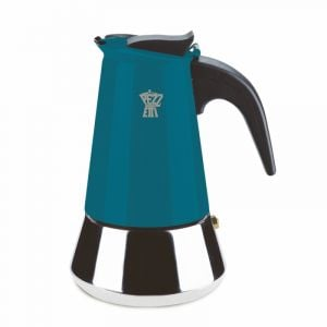 PEZZETTI STEELEXPRESS MOKA POT - 2 CUP TEAL BLUE