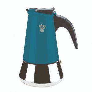 PEZZETTI STEELEXPRESS MOKA POT - 4 CUP TEAL BLUE