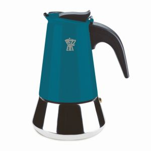 PEZZETTI STEELEXPRESS MOKA POT - 6 CUP TEAL BLUE