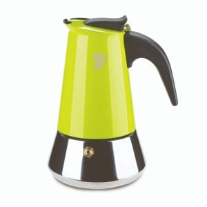 PEZZETTI STEELEXPRESS MOKA POT - 6 CUP GREEN