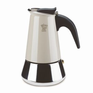 PEZZETTI STEELEXPRESS MOKA POT - 6 CUP DOVE GREY