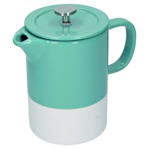 LA CAFETIÈRE BARCELONA RETRO BLUE CERAMIC 850ML CAFETIÈRE, GIFT BOXED