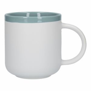 LA CAFETIÈRE BARCELONA RETRO BLUE CERAMIC 450ML LATTE MUG, SLEEVED