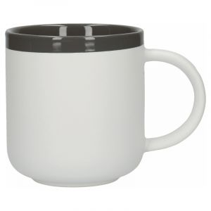 LA CAFETIÈRE BARCELONA COOL GREY CERAMIC 450ML LATTE MUG, TAGGED