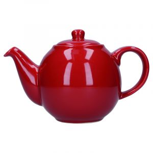 LONDON POTTERY GLOBE TEAPOT, RED, TWO CUP - 500ML, BOXED