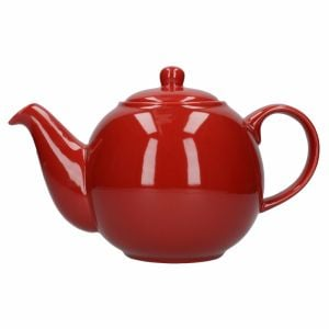 LONDON POTTERY GLOBE TEAPOT, RED, SIX CUP - 1.2 LITRES, BOXED