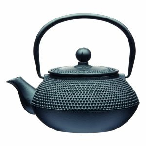 LE'XPRESS CAST IRON INFUSER TEAPOT 3 CUP 600ML BLACK GIFT TAGGED