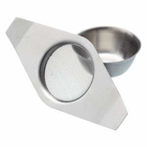 LE'XPRESS STAINLESS STEEL DOUBLE HANDLED TEA STRAINER AND BOWL