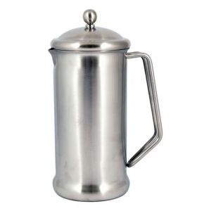 CAFETIERE STAINLESS STEEL 6 CUP 1050ML - BRUSHED FINISH