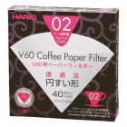 HARIO V60 PAPER FILTERS 02 DRIPPER 40 SHEETS - BLEACHED